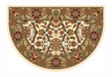 Picture of Ivory & Green Floral Hearth Rug